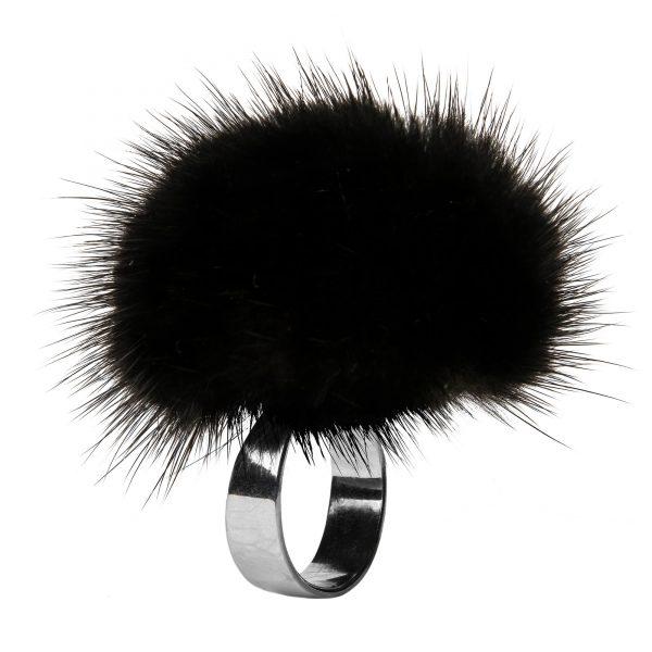 Noemi prsteň s čiernou norkou