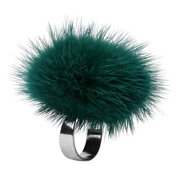 Noemi prsteň so zelenou norkou