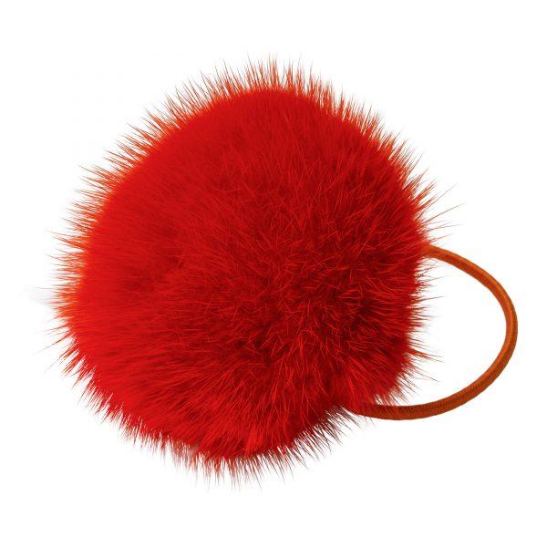Noemi gumička do vlasov s oranžovou norkou