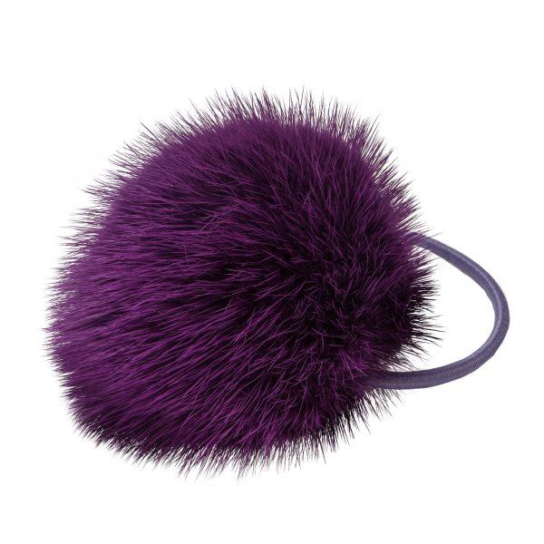 Noemi gumička do vlasov s fialovou norkou