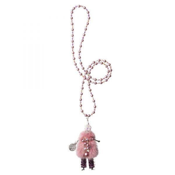 Garciela náhrdelník ružový