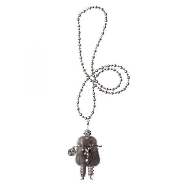 Garciela náhrdelník sivý