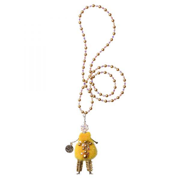 Garciela náhrdelník žltý