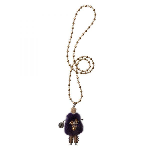 Garciela náhrdelník fialový