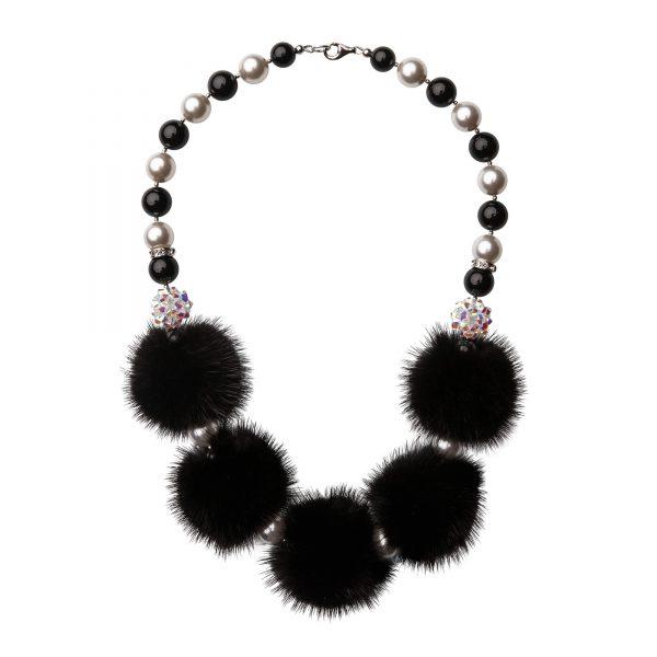 Noemi 5 náhrdelník s fialovou norkou