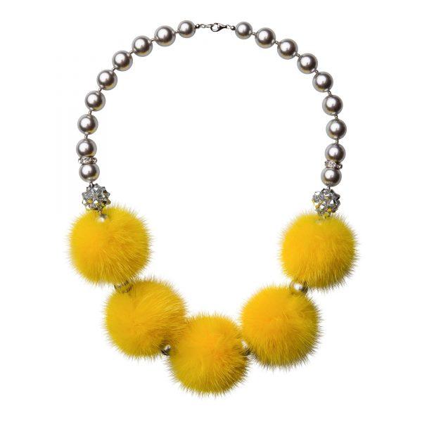 Noemi 5 náhrdelník so žltou norkou