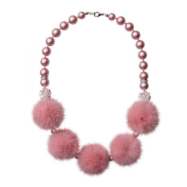Noemi 5 náhrdelník s ružovou norkou