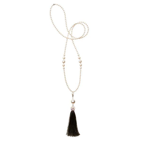 Čierny Diva náhrdelník