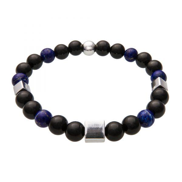 Energy náramok z čierneho turmalínu a lapizu lazuli