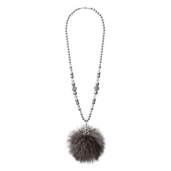 Lisa náhrdelník so sivou líškou