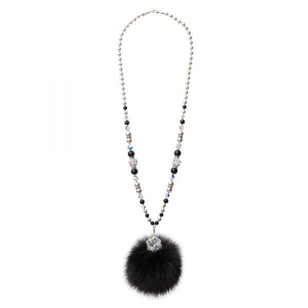 Lisa náhrdelník s čiernou líškou