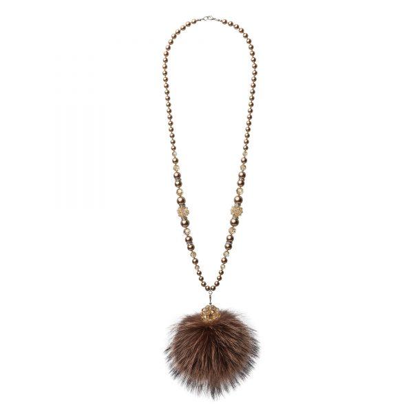 Lisa náhrdelník s hnedou líškou