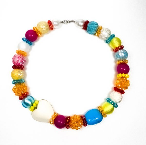 Summer big náhrdelník farebný