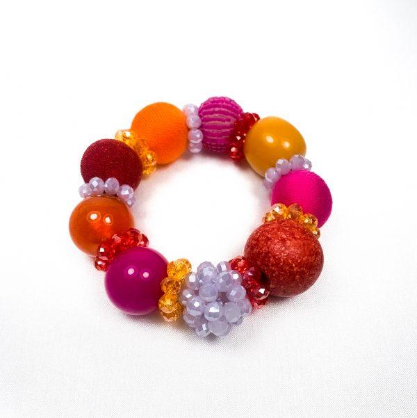 Summer big náramok oranžovo-fialovo-fuchsiový