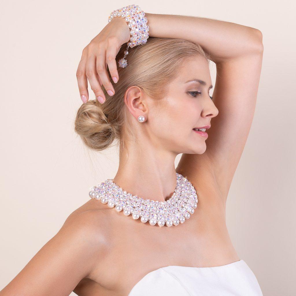 Kolekcia Audrey perlový náhrdelník