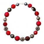 Summer náhrdelník červeno-čierny