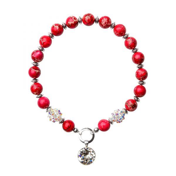 Muse náhrdelník s polodrahokamami ružový