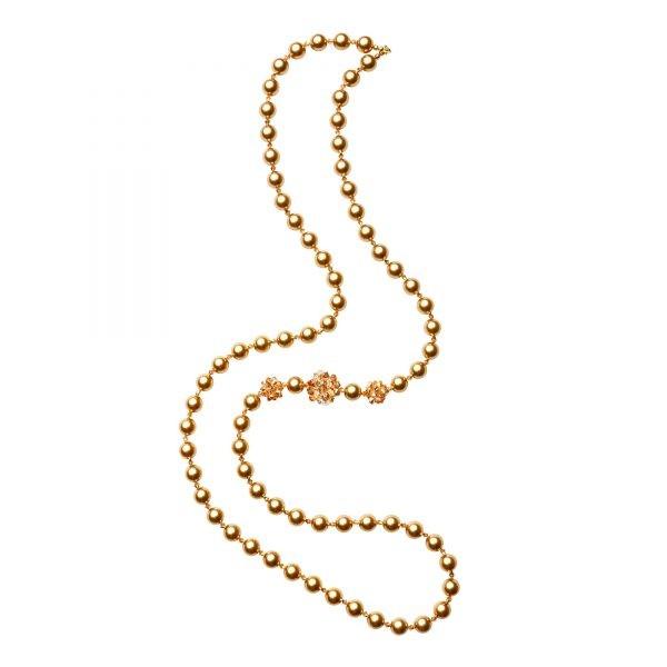 Daisy náhrdelník v zlatej farbe