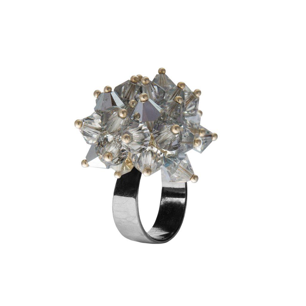 Star prsteň strieborný