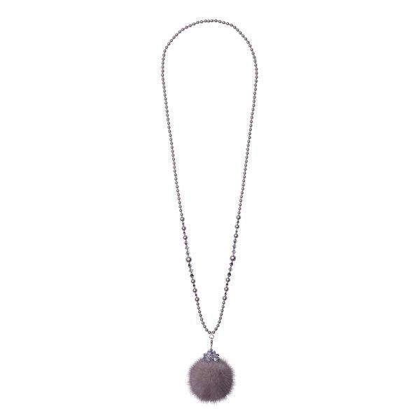Noemi One náhrdelník so sivou norkou
