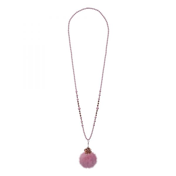 Noemi One náhrdelník s ružovou norkou