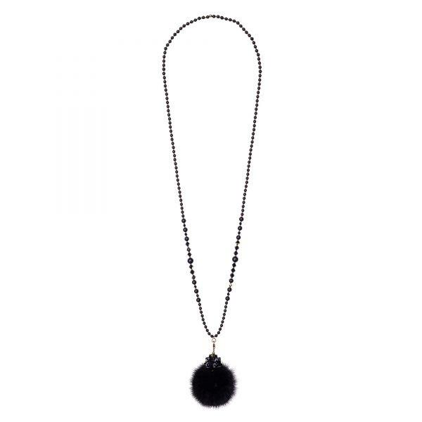 Noemi One náhrdelník s čiernou norkou