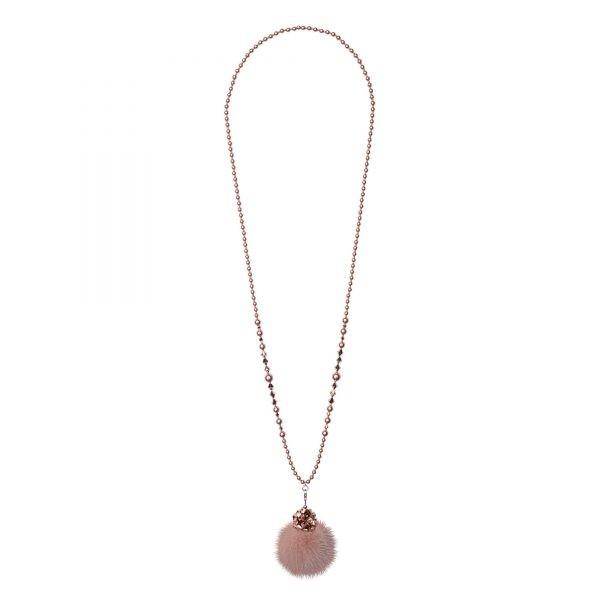 Noemi One náhrdelník s béžovou norkou