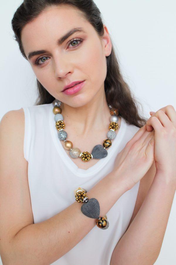 Summer náhrdelník zlato-strieborný