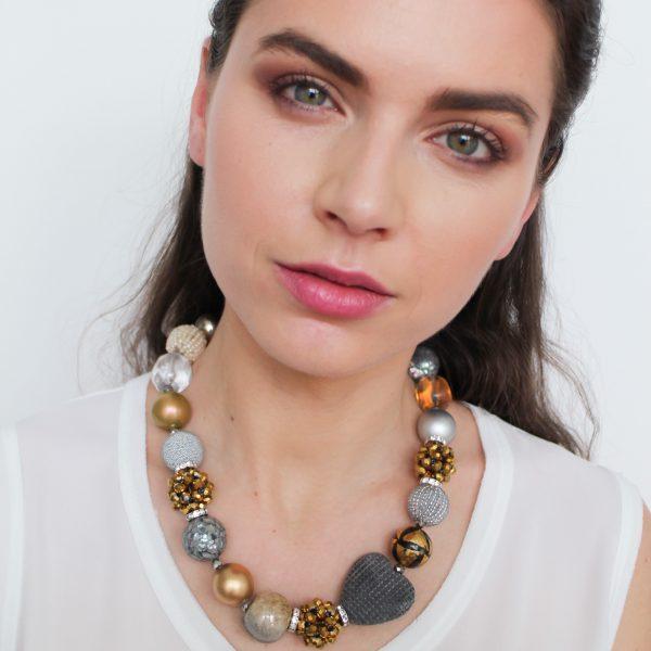 Summer náhrdelník zlato-strieborny