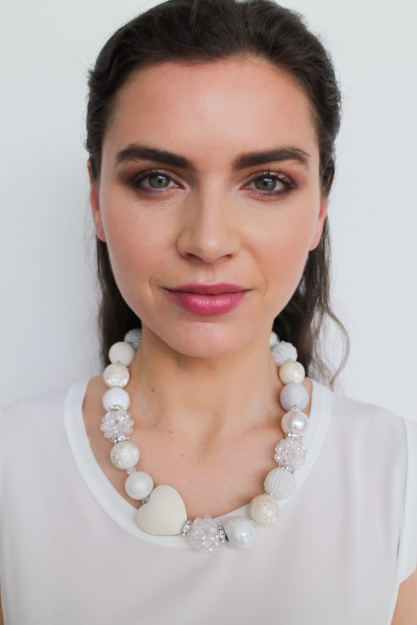 Summer náhrdelník biely