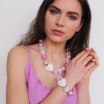 Summer náhrdelník ružový