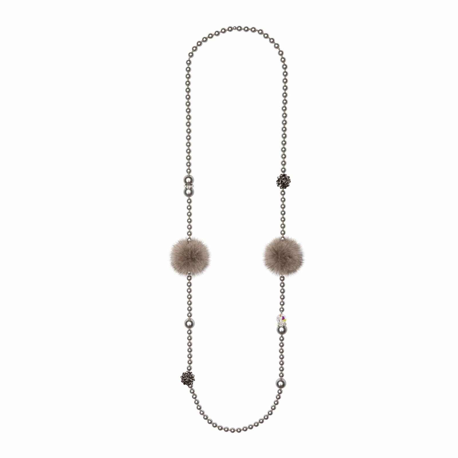 Noemi Duo náhrdelník sivý