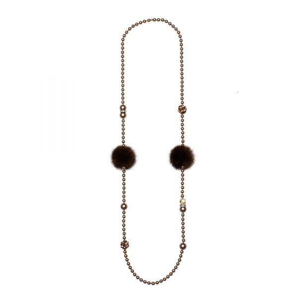 Noemi Duo náhrdelník bronzový