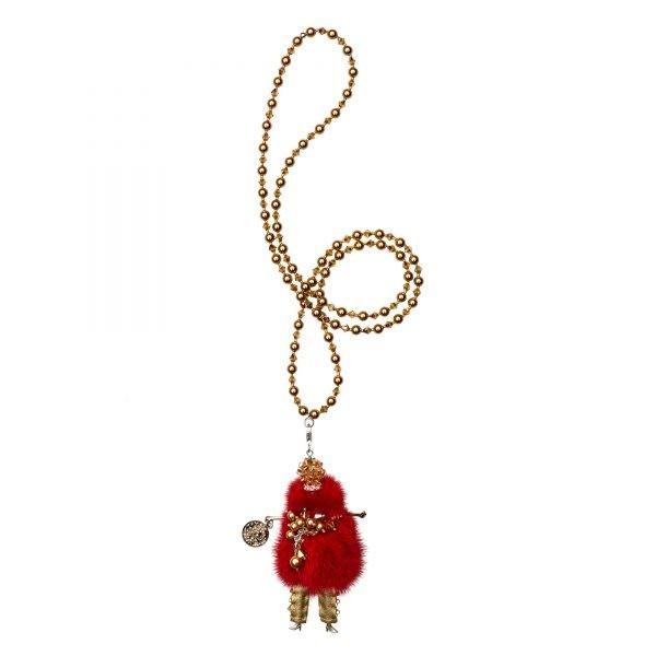 Garciela náhrdelník červený