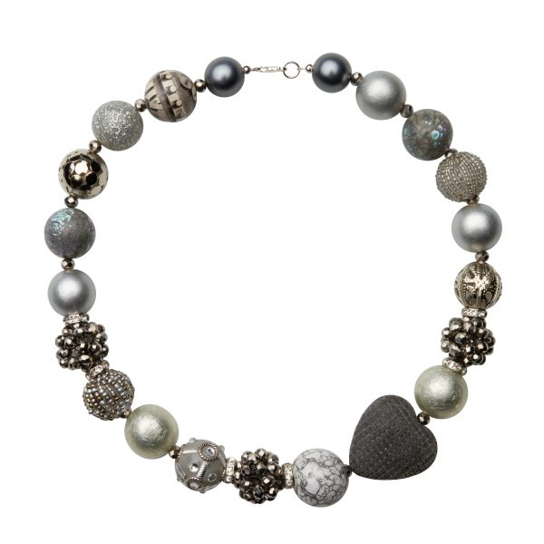 Summer náhrdelník strieborný