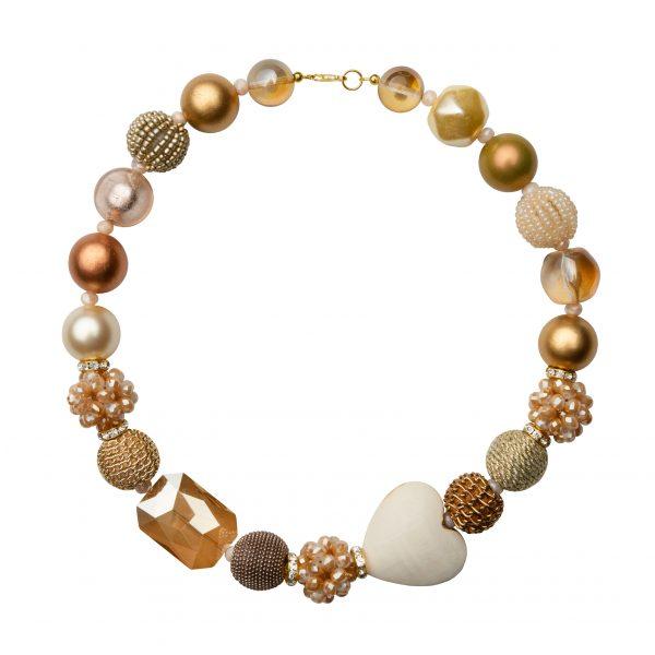 Summer náhrdelník zlatistý