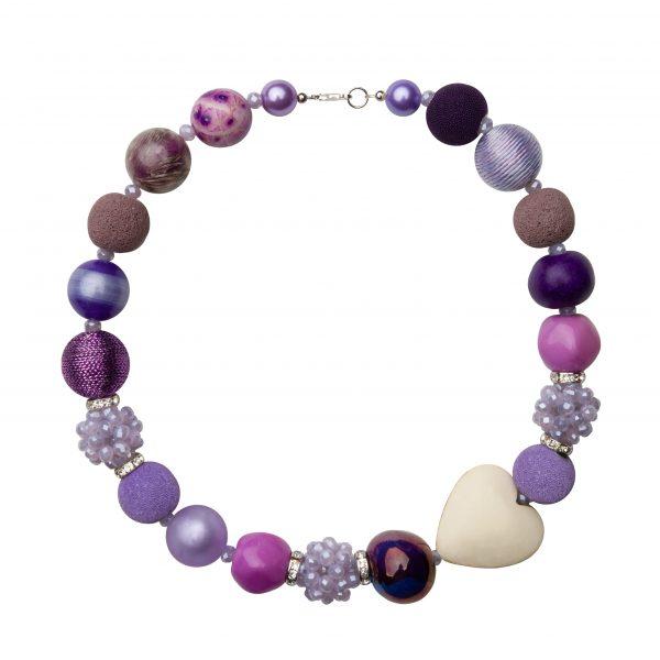 Summer náhrdelník fialový