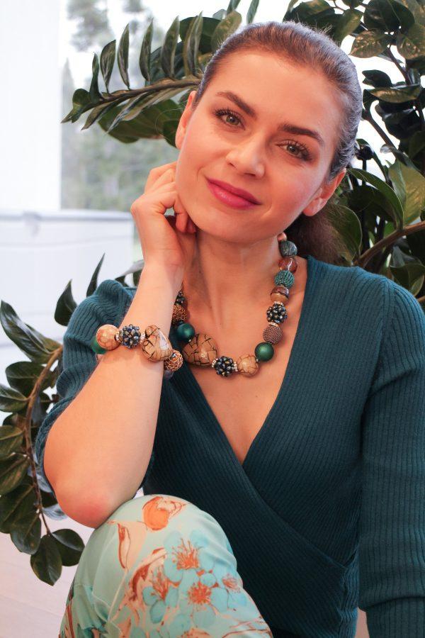 Zelený náhrdelník Summer