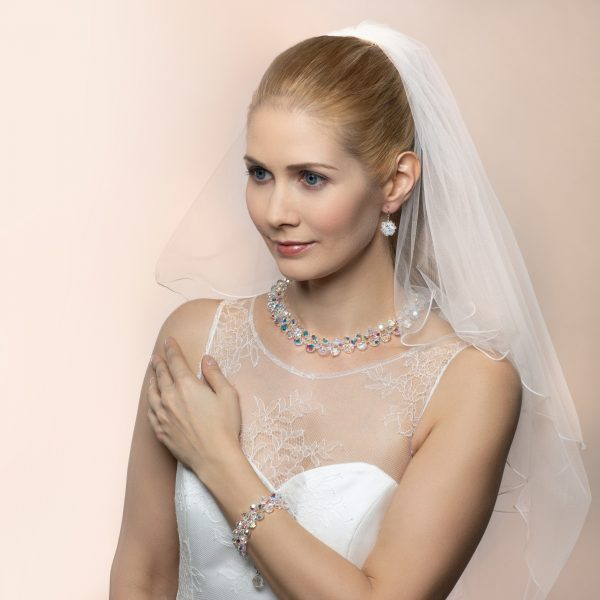 Audrey set kristal biely