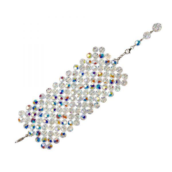 Audrey naramok z bielych kristalov sedemradovy