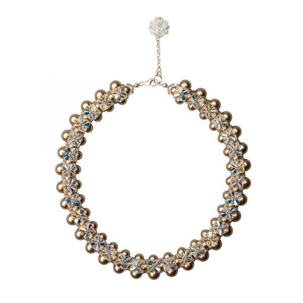 Audrey nahrdelnik bronzove perly
