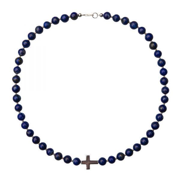 Energy nahrdelnik s modrym lapiz lazuli a hematitom