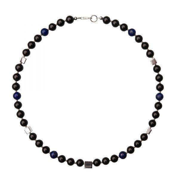 Energy nahrdelnik s ciernym turmalinom a modrym lapiz lazuli